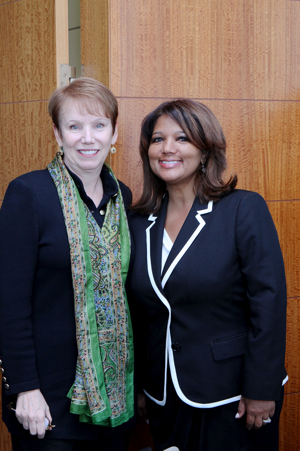 (L to R) Patricia Glaser Shea (CEO, YWCA of Nashville & Middle Tennessee) and Jacky Akbari (co-founder, board chairwoman of NOW Diversity).